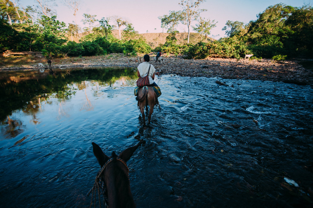 Across the Nicaraguan rivers.