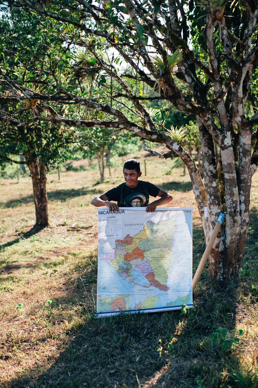 Map of Nicaragua.