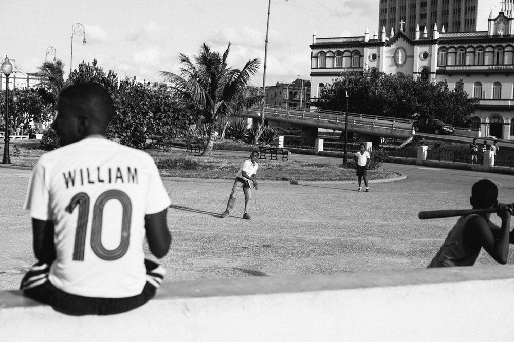 baseball on the street Havana