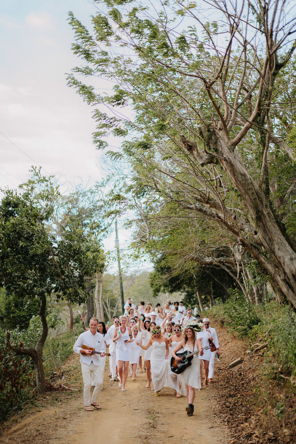 Wedding parade, San Juan del Sur