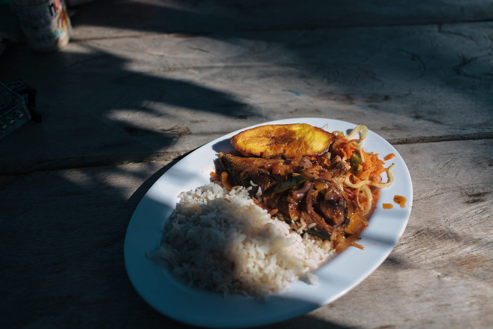 Menu is quite similar to other Central American regions. Variation of rice, fish or other sea food and plantains.