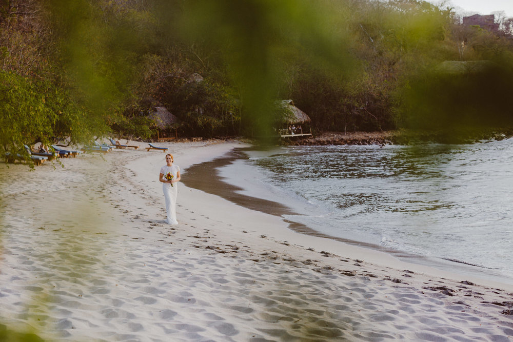 Wedding that took place at nicaraguan beach