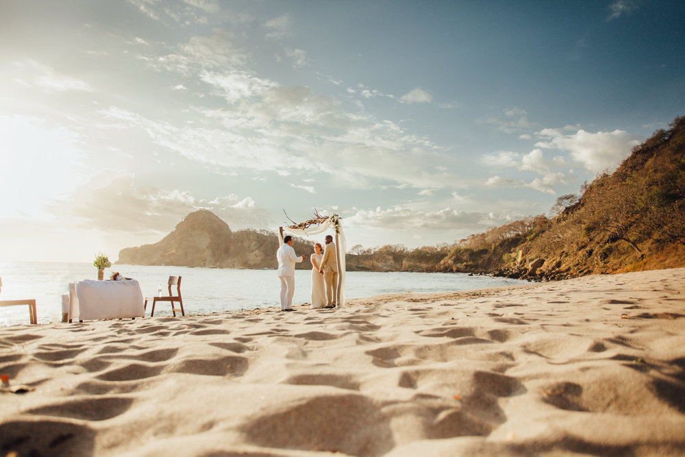 Destination beach wedding of Megan and Aquil that took place in Aqua Nicaragua