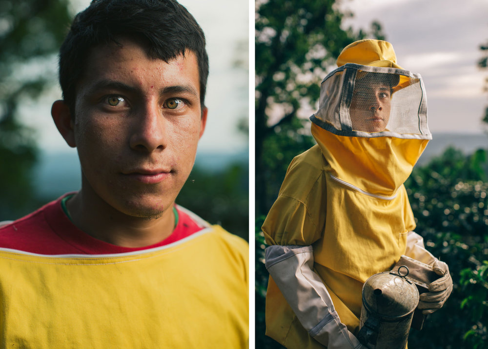 The 19-year-old Ever has always had a connection and passion for bees. Trough education he developed entrepreneurial skills, which prompted him to organize a honey cooperative with other young people.