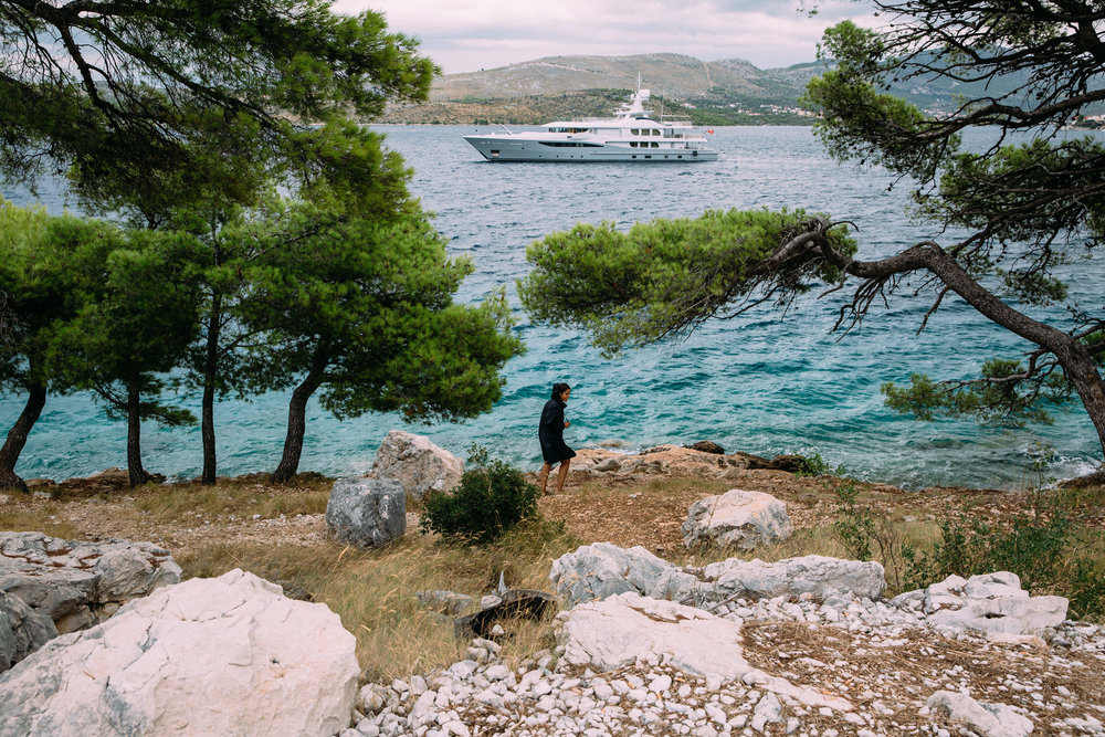 Ship bay croatia landscape