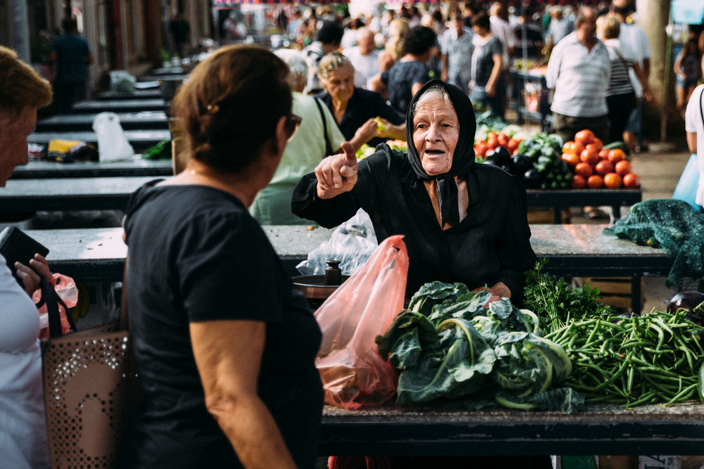 Croatia old woman market