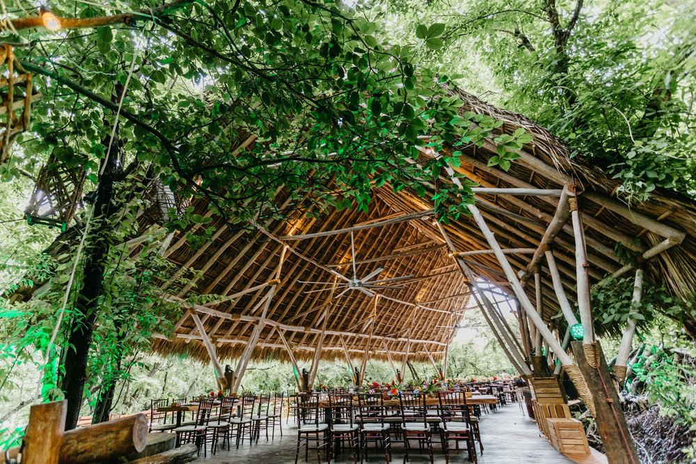 Beautiful tropical, jungle style wedding venue Costa Rica