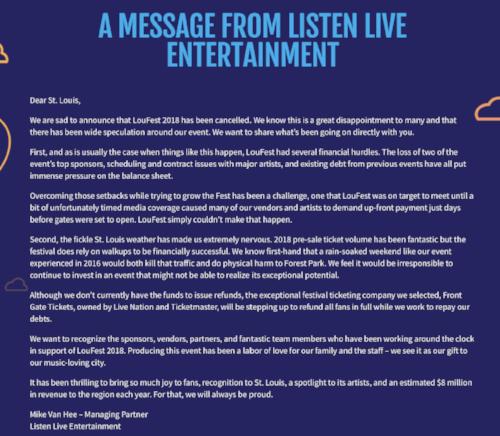 Listen Live Letter