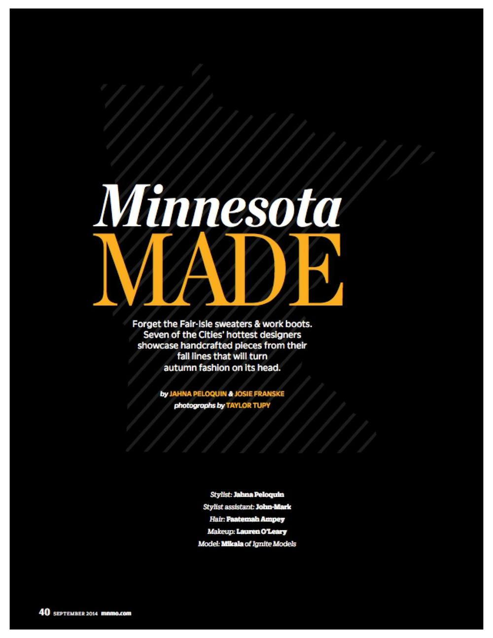 Minnesota Monthly Magazine September 2014