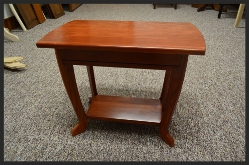 These 2 end tables are made out of cherry and can be made for RV's or for a residential home!