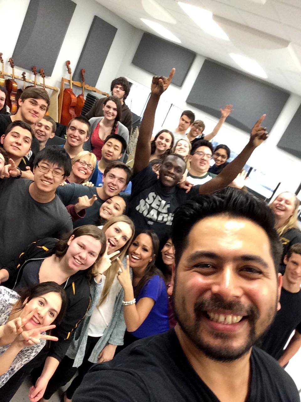 Selfie with Commack HS!
