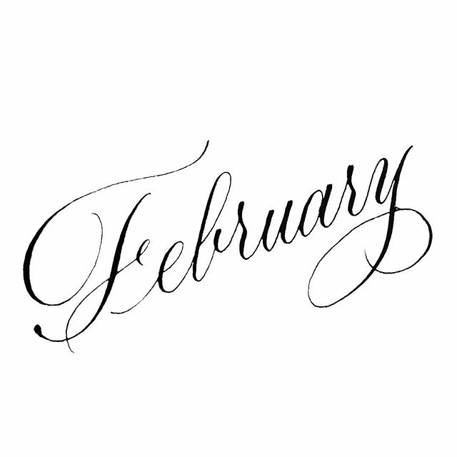 Welcome, February! Please don't be too cold.