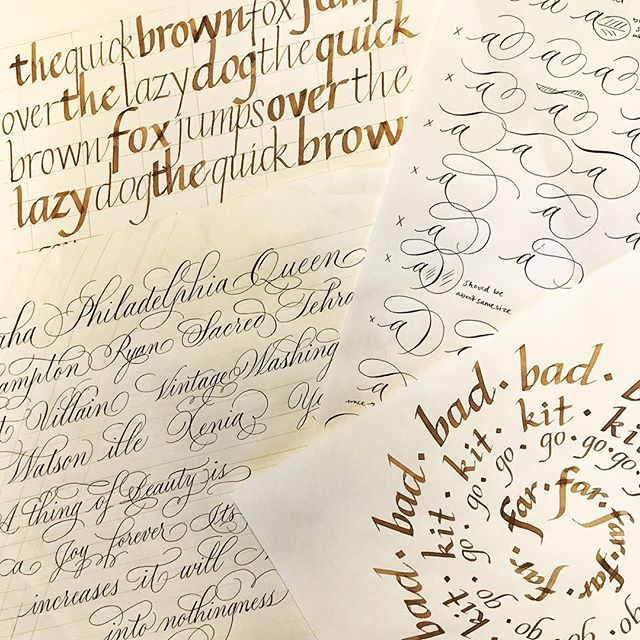 "I'm dreaming in ovals and flourishes after the best week at #iampeth2018 ! I learned so much and had an incredible time in Milwaukee with calligraphers from around the world. I've come home from ""calligraphy camp"" energized and inspired to practice, create and share my love of letters."