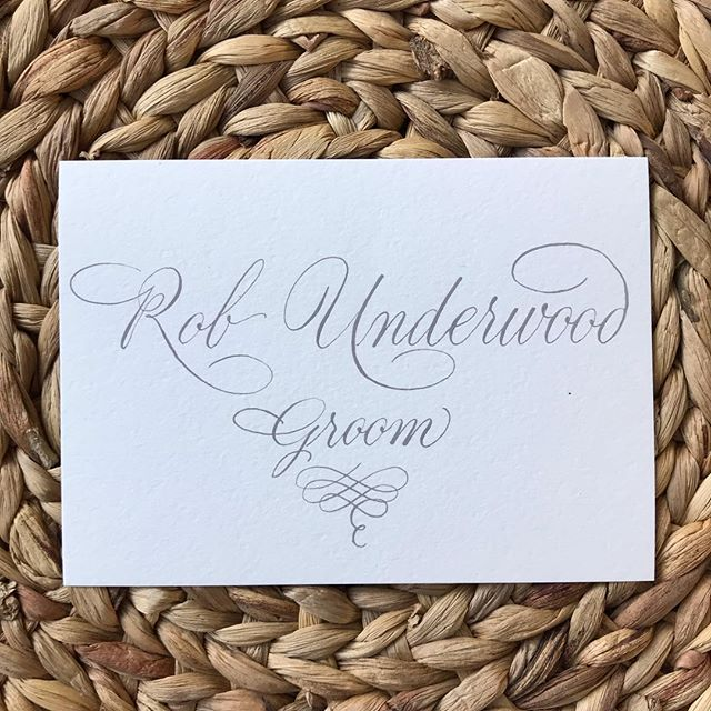 A special place card for the groom.