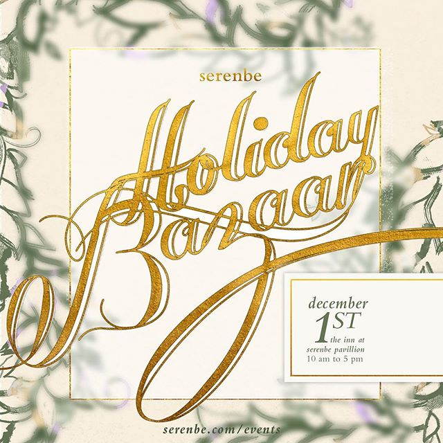 Looking for something festive to do this weekend? Welcome the holiday season by joining me on Dec. 1 at the Serenbe Holiday Bazaar! I will be teaching two hand lettering workshops at 10:30 a.m. and noon. These workshops will be a fun introduction to the world of calligraphy. After a brief overview of the fundamentals, you'll put pen to paper to create your own holiday cards! The cost of the class is $25 and includes a brush pen and five blank cards and envelopes.  There will be plenty of other fun activities throughout the day as well, including wreath making workshops, pictures with Santa Clause and an artist market featuring unique gifts. Click the link in my bio to sign up!