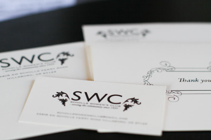 Branding for Scholls Women's Club in Oregon.