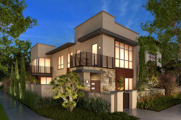 A rendering of a new home at Trevion, one of the neighborhoods in Playa Vista's second and final phase. (Brookfield Residential)