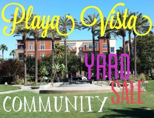 playa vista community yard sale