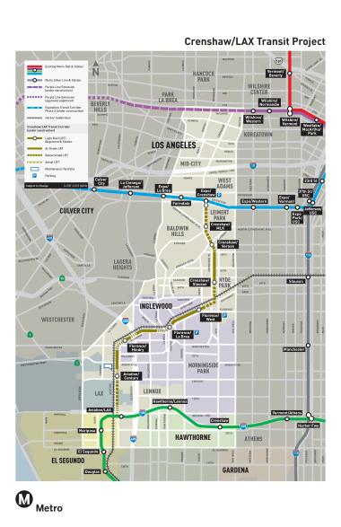 metro expo line map