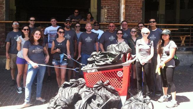 angel city brewery clean up