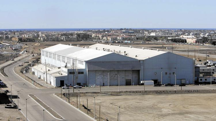 "Google is expected to lease the historic hangar where aviator Howard Hughes built his famous ""Spruce Goose"" airplane. (Annie Wells / Los Angeles Times)"