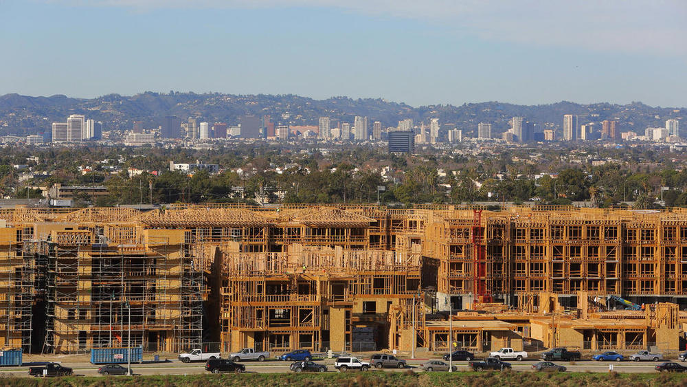 Photo Credit: Marcus Yam / Los Angeles Times. New projects are under construction in Playa Vista. The area's expanses of undeveloped land are a boon for tech companies anticipating workforce growth.