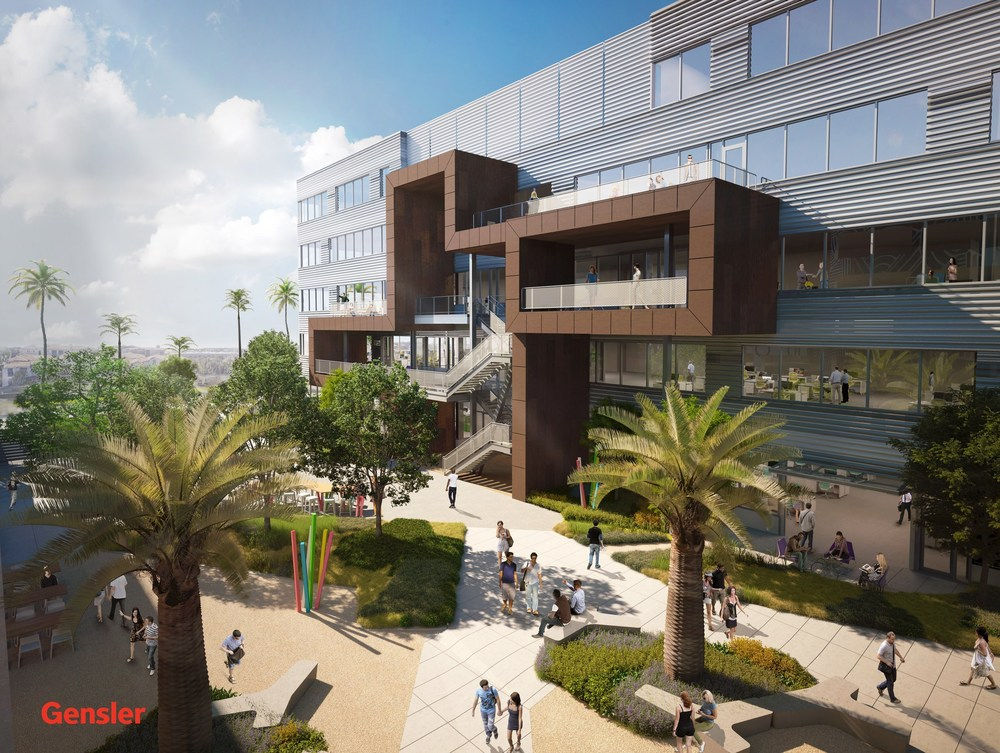 i|o at Playa Vista by Clarion Partners. Design by Gensler. Rendering by Kilograph.