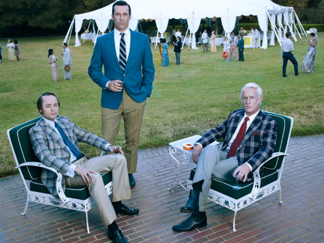 Vincent Kartheiser, Jon Hamm and John Slattery star in 'Mad Men.' Film Independent has a two-night salute to the show. (Photo: Frank Ockenfels 3/AMC)
