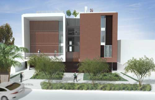 A rendering depicts the future Gateway Apartments