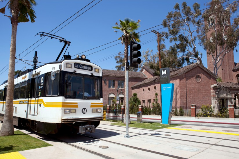 The Expo Line's success in attracting riders highlights the demand for public transit in Los Angeles. (USC Photo/Dennis Martinez)