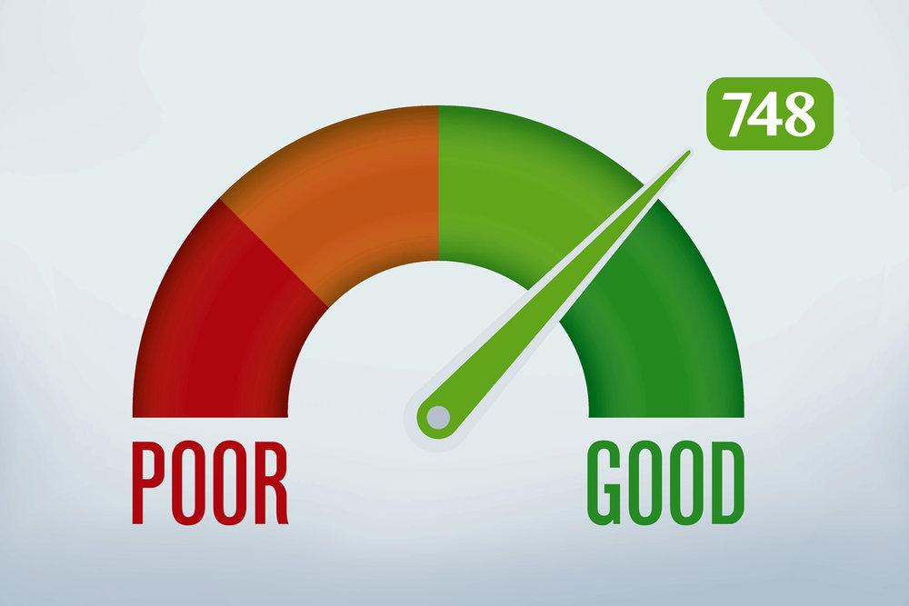 los angeles credit score