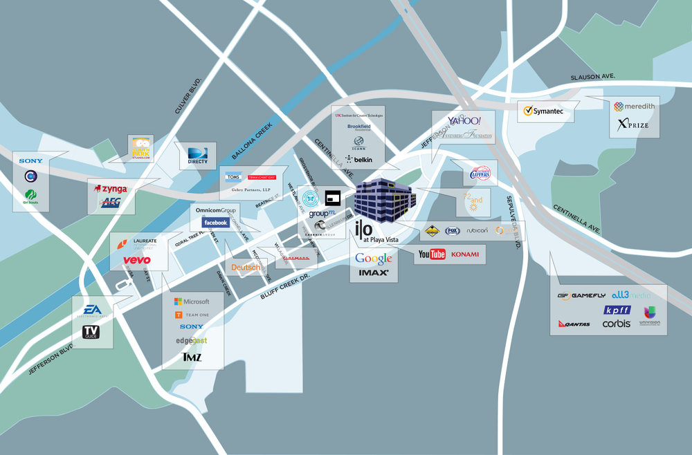 playa vista employers map