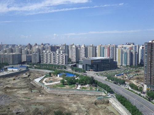 Wangjing Area in Beijing, China