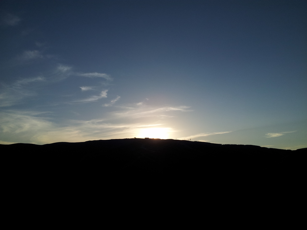 And then the sunset in the mountains =)