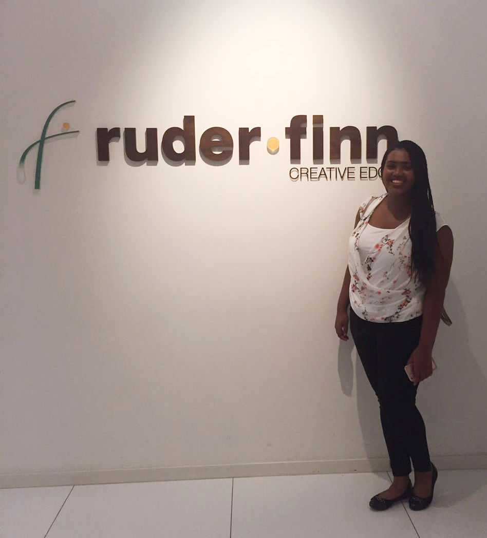 First Day of Work At Ruder Finn