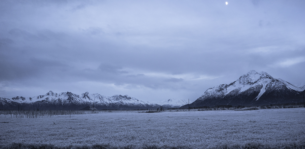 Drive by mountain shot AK