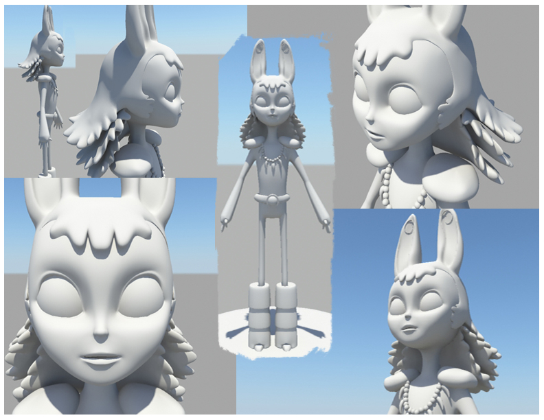 Early Beebee Character Model