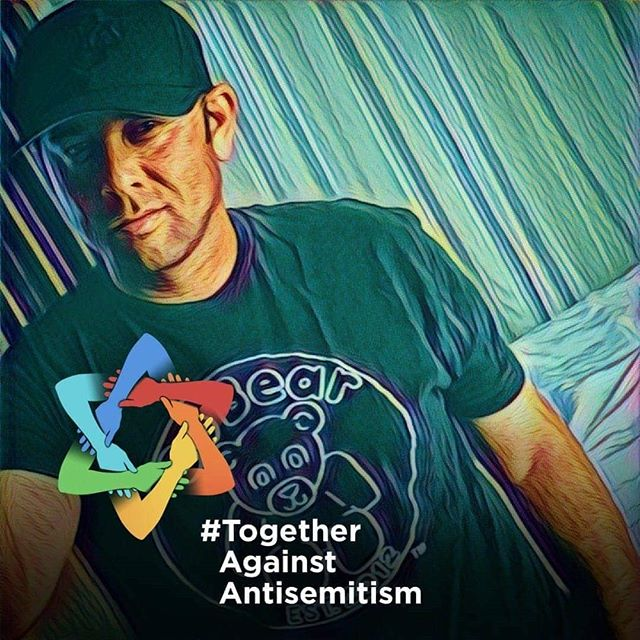 """Fight against #antisemitism ✡ """"Any one of us associated with addiction and recovery are in no position to pass judgment or hate."""" - @tonyboisselle, Founder of SoBear 💜🐻💜 #noh8 #sobriety #cleanandsober #cleanandserene #wedorecover #oursobearfamily #teamsobear #straightedge #soberisbeautiful #cleanisbeautiful #cleanissexy #soberissexy"""