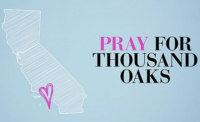 #prayforthousandoaks A day after a tragic shooting, the community (and surrounding areas) is now facing mandatory evacuations due to huge uncontained fires. Special shout out to our first responders who are working tirelessly and special prayers to those affected by these tragedies. #payitforward