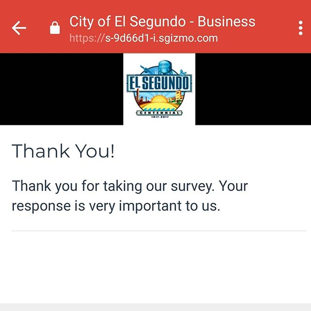 We care about our community. We are a transparent company so in our survey for the City of El Segundo, we complimented the service staff in the licensing department. We also called for more Police/Firefighters with the retention of the ones we have. @el_segundo_poa @elsegundopd @elsegundofd #police #fire #elsegundo