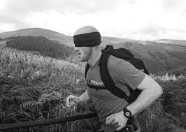 Dara O Boyle during his Blindfold challenge in Wicklow.