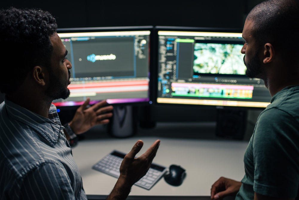 3. Post-Production - We use all of the raw captured media to tell your story.▪︎  Off-line/online editing▪︎  Sound mixing/editing/design▪︎  Motion graphics▪︎  Color correction/grading▪︎  Music composition