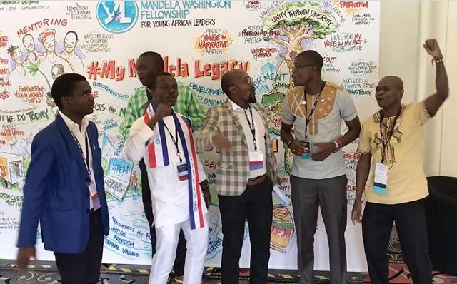 #tbt to the time participants from the IREX Mandela Washington Fellowship for Young African Leaders Summit broke out in song in front of a graphic recording created by Jim Nuttle, Crowley & Co. Associate, in August 2018. The live graphic recording captured the pledges made by the participants on how they will honor Nelson Mandela's legacy when they return home.  Watch the video on our homepage.