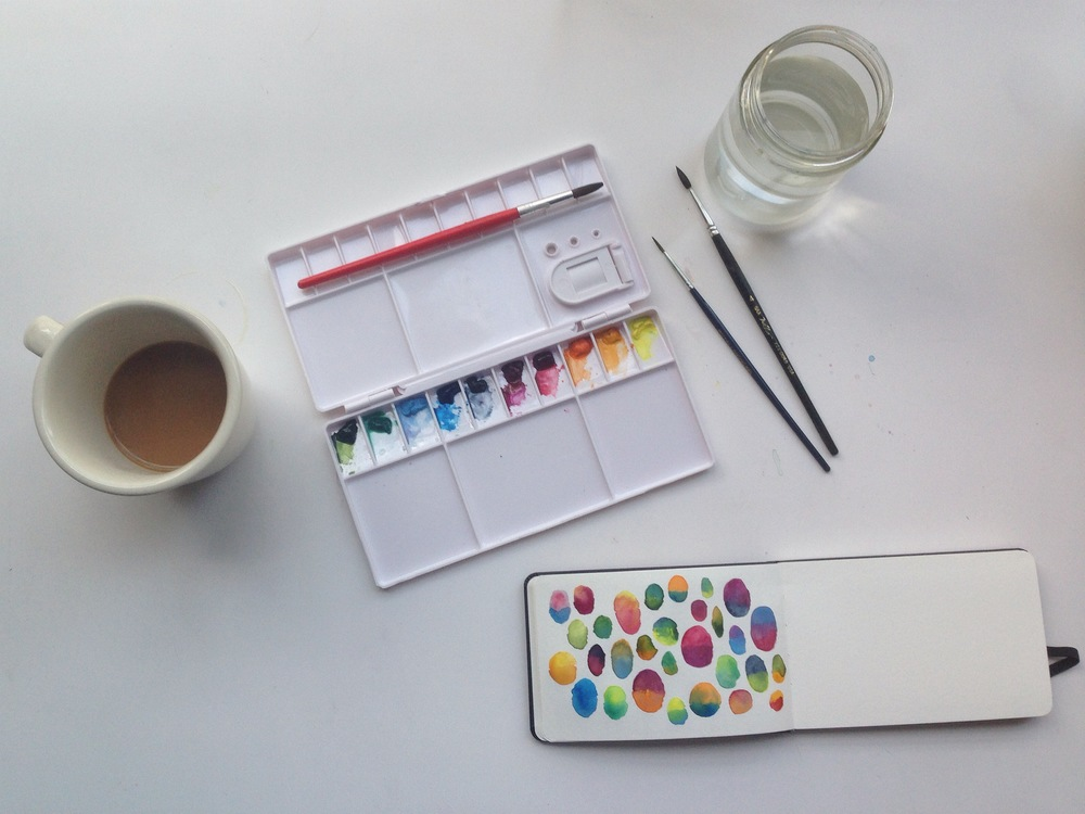 watercolor color combos | 127 year of creative habits