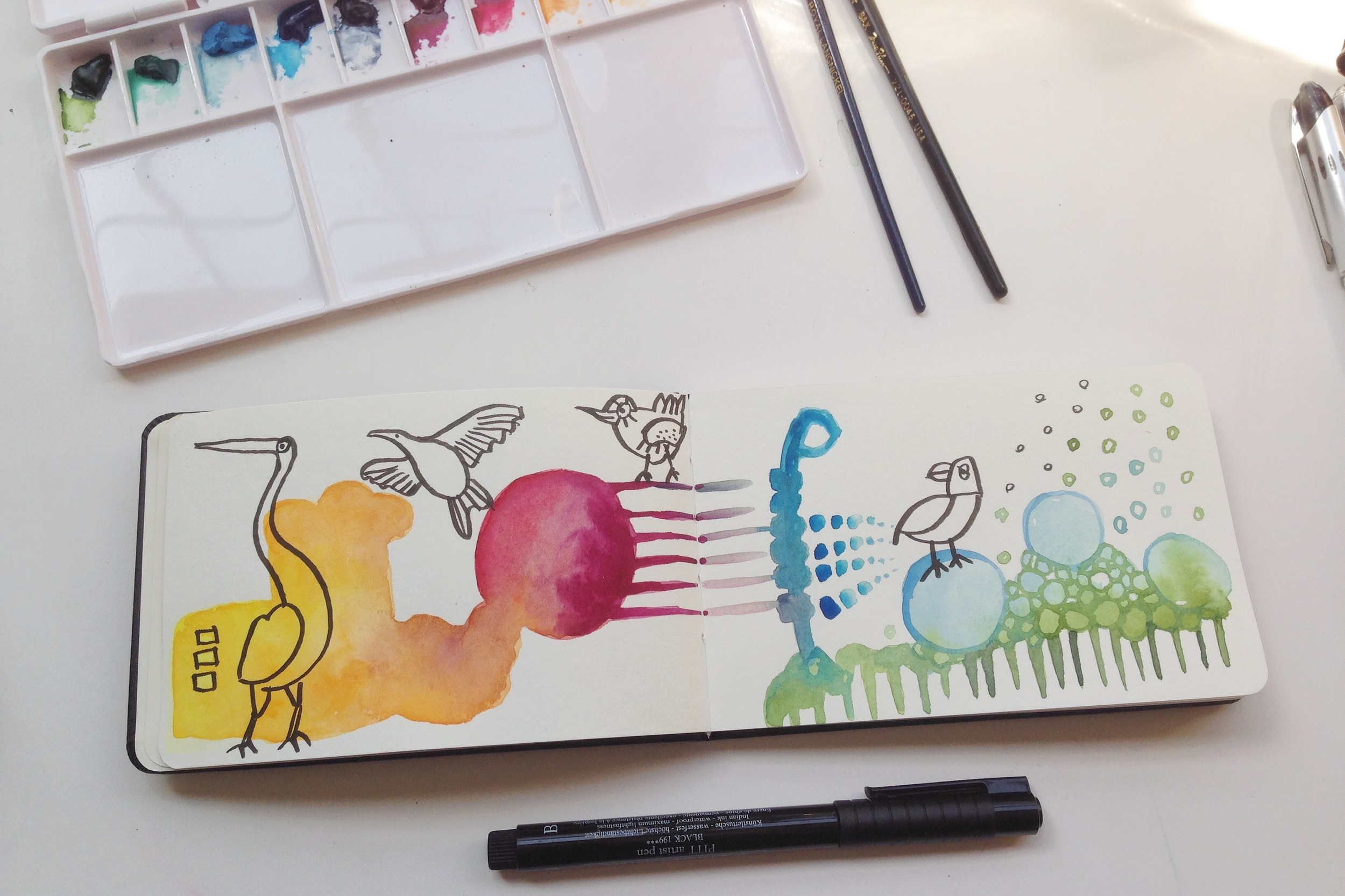 watercolor doodles | 126 year of creative habits