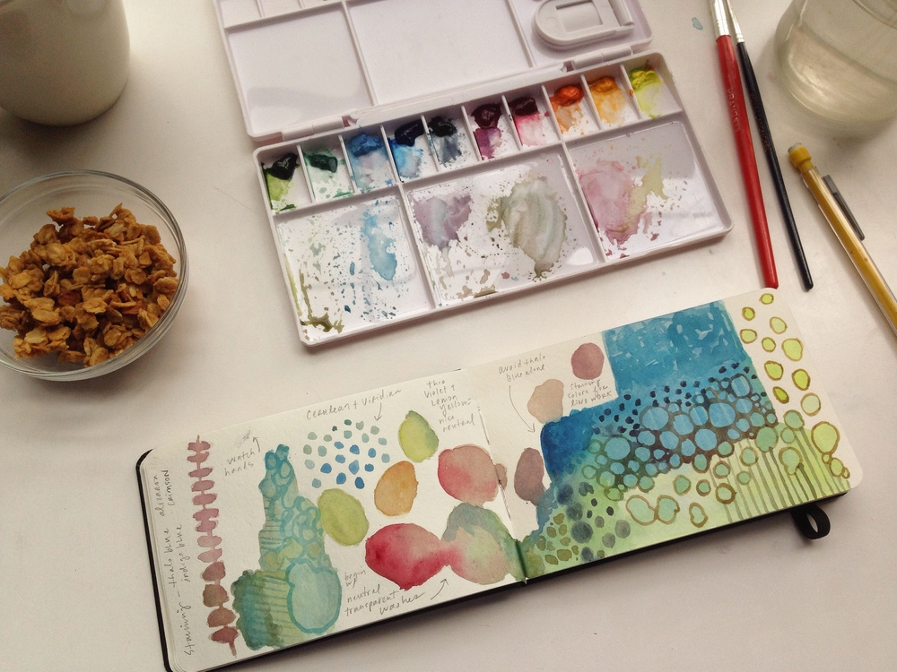 watercolor play | 129 year of creative habits