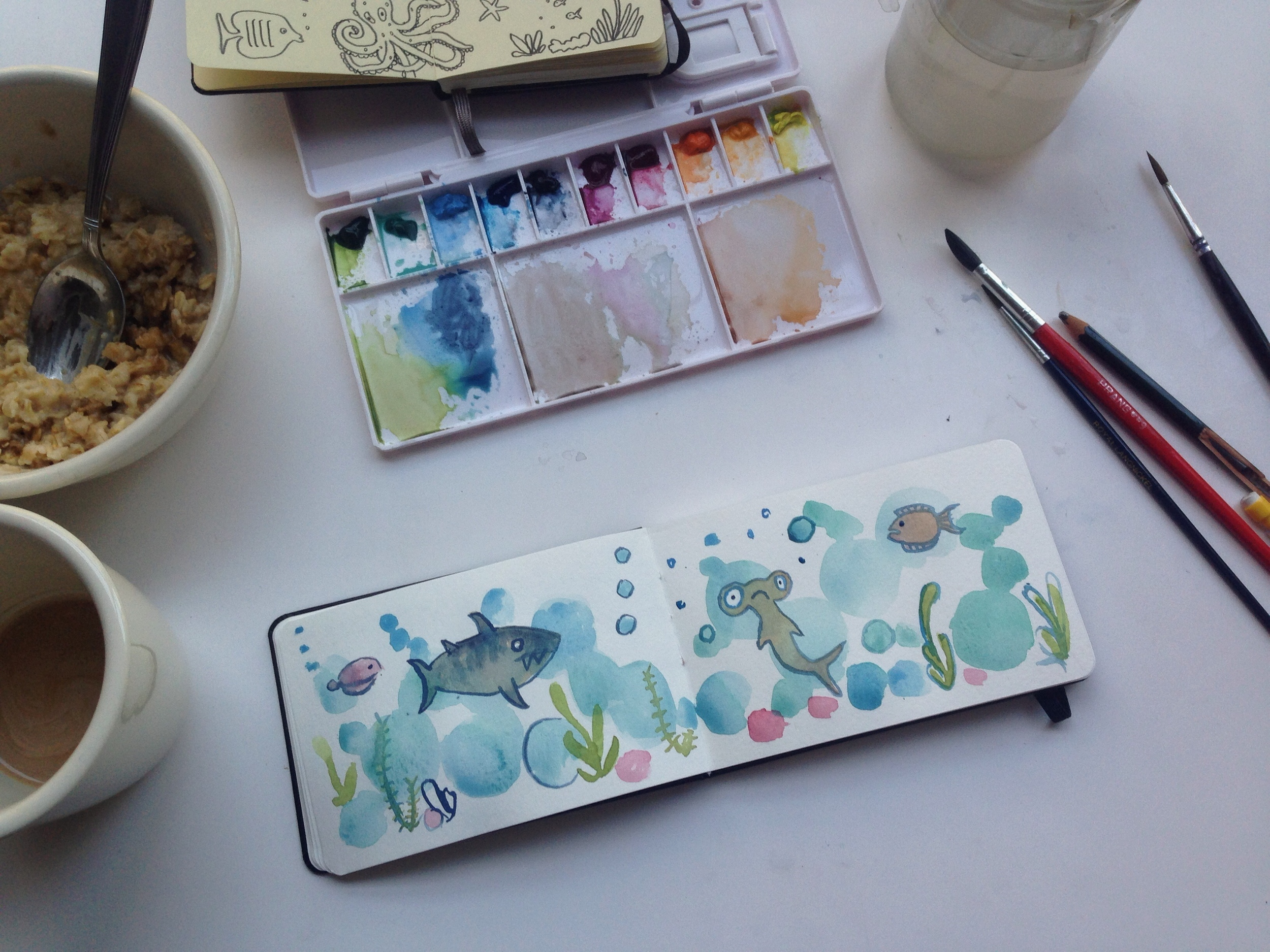 watercolor sea | 131 year of creative habits