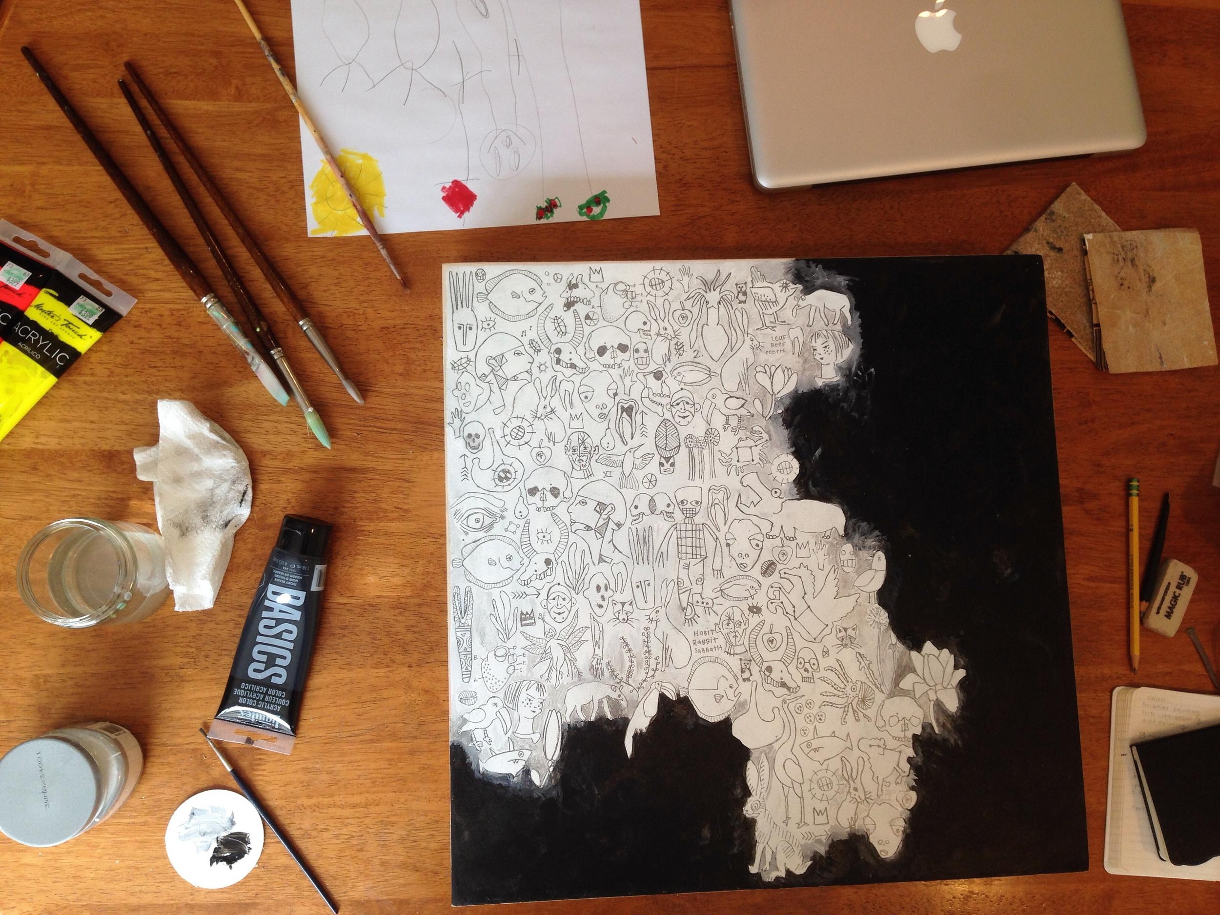 studio mess | year of creative habits
