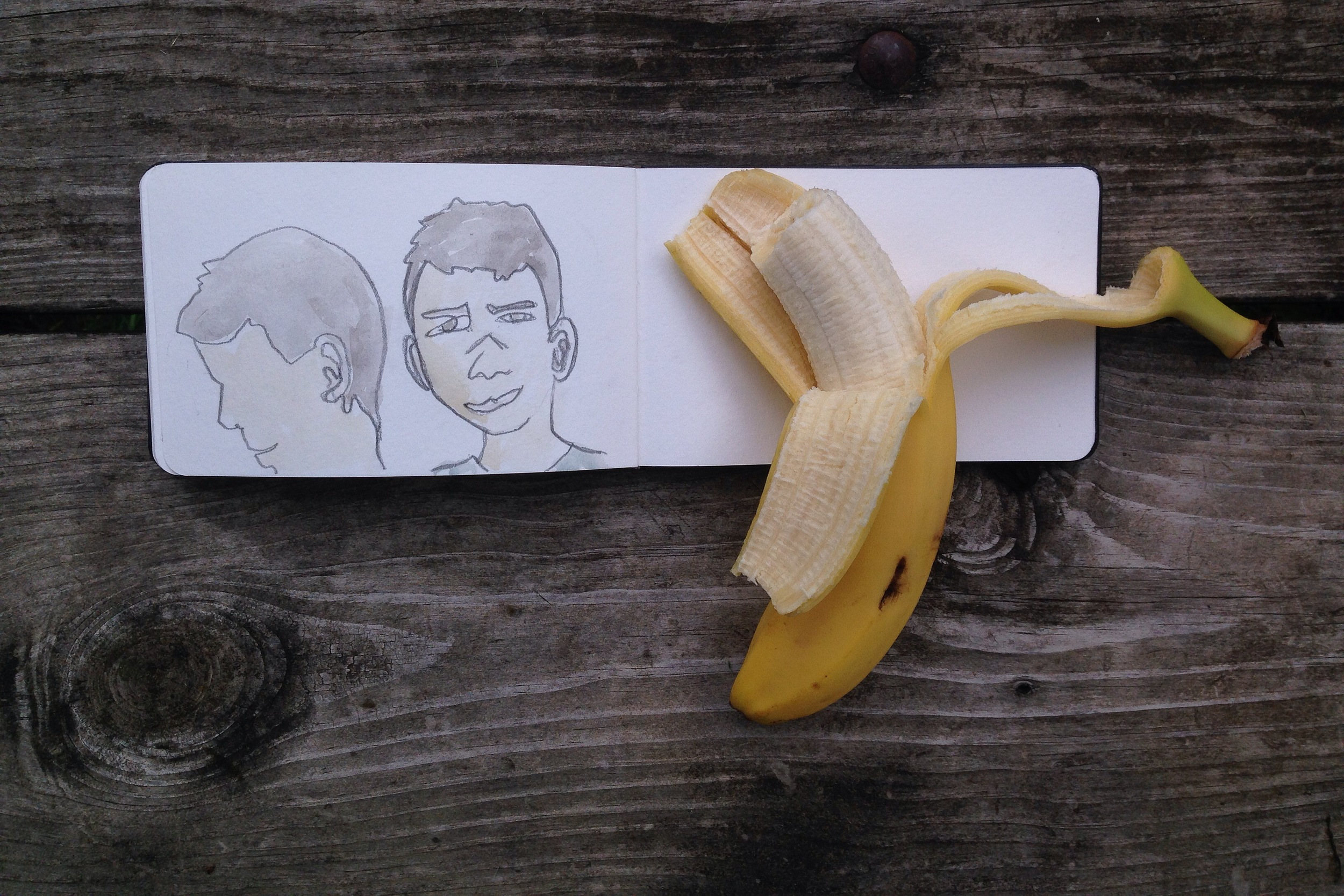 banana at the barn | year of creative habits