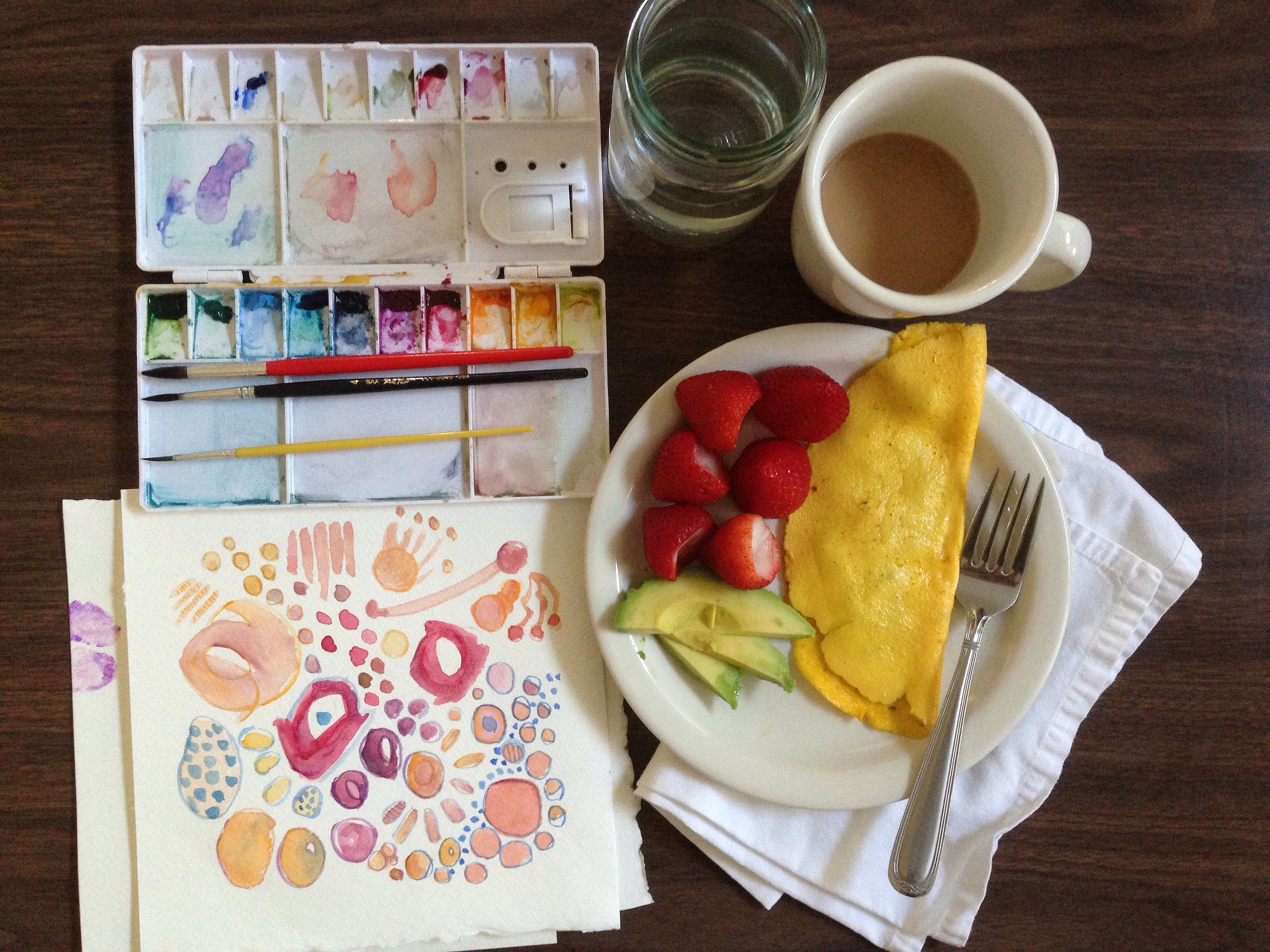 breakfast painting | year of creative habits